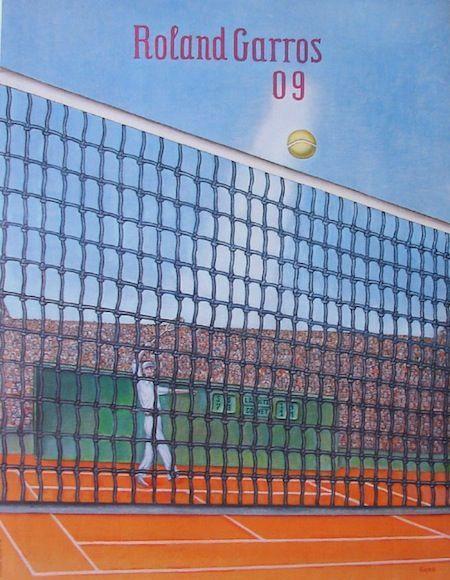 Official Roland Garros 2009 Poster - Artist: Konrad Klapheck