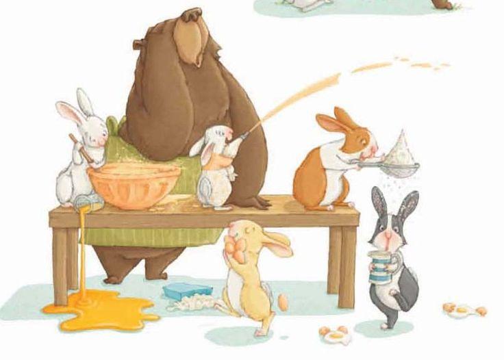 Příběh pro děti o medvědovi, který žil sám uprostřed divočiny, což se mu náramně líbilo. Co se ale nestalo? Do sousedství se přistěhovala rodina králíků...#kniha #pohadka #otravni #kralici #deti