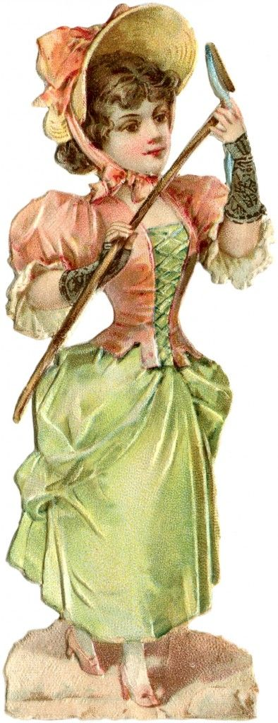 Victorian Garden Lady Image! - The Graphics Fairy: