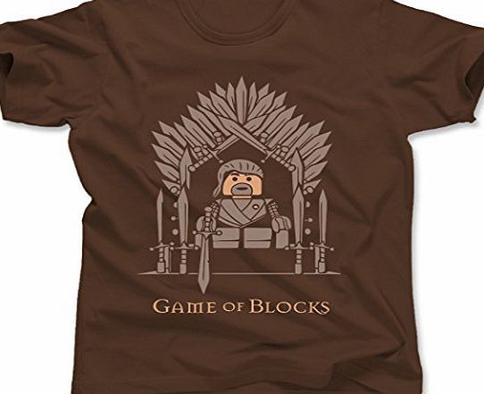 Tee Town Game Of Blocks Lego Game Of Thrones Mens T-Shirt, Brown, Medium Here at Tee Town we are inspired by a large range of Classic Funny TV, Films, Music amp