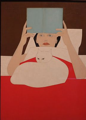 Woman Reading - Will Barnet    .....reading in bed.....snowy listening to the story......