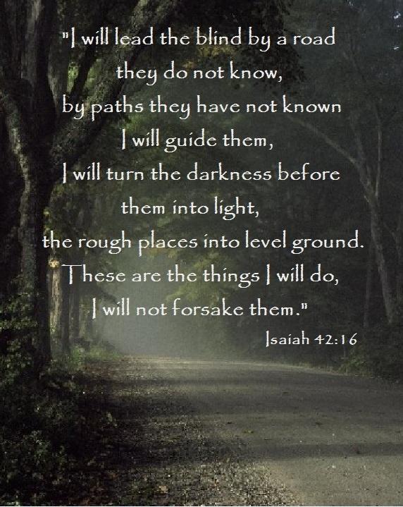 a wonderful promise ~ ISAIAH 42:16