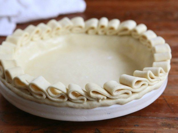 Make a pretty ruffle layer with strips of dough. | 23 Ways To Make Your Pies More Beautiful