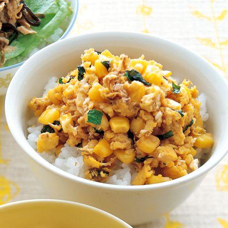 みそバターいり卵丼 | 重信初江さんのどんぶりの料理レシピ | プロの簡単料理レシピはレタスクラブネット