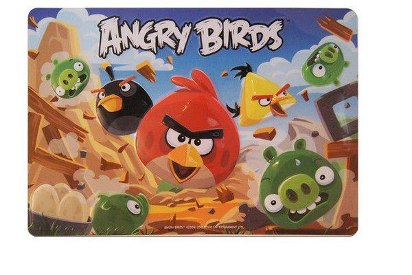 Placa para pastel de pvc rectangular grande Angry Birds exploción (37 x 25.4 cm.) Envío sin costo a todo México.