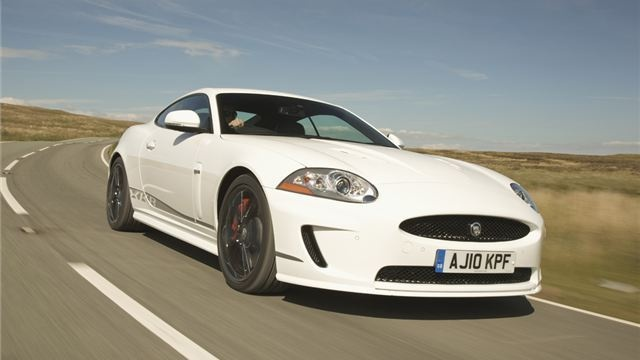 Jaguar XKR (2006-)  The thunderous XKR is the supercharged version of the XK with its latest 5.0-litre V8 engine producing 510PS - up from the original 4.2-litre unit... http://www.honestjohn.co.uk/topten/top-ten-high-performance-cars/?image=6