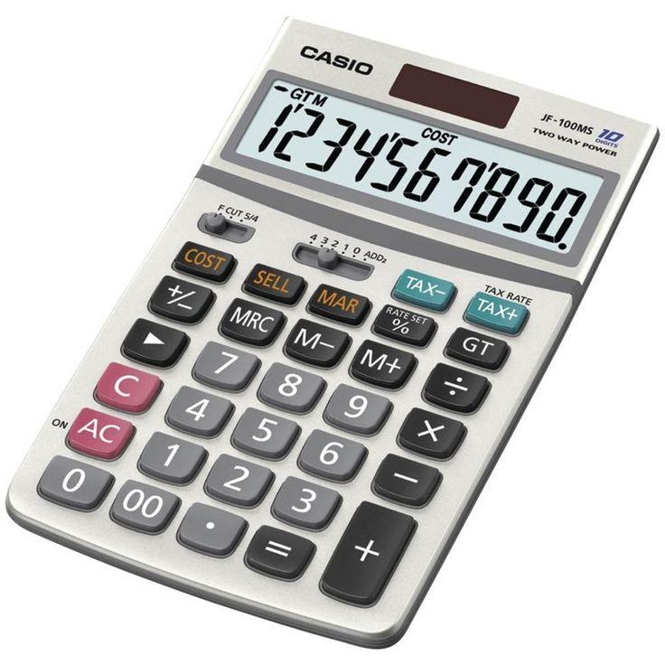 CASIO JF100MSSIH Solar Calculator