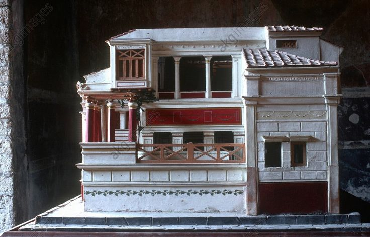 POMPEII, MODEL OF A ROMAN HOUSEPompeii, Campania (Italy). model of a Roman house, House of the Tragic Poet. Model of a Roman house.: