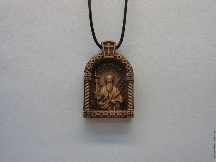 Купить Нательная иконка Св. апостол Андрей Первозванный. Персональный заказ. - нательная иконка, образок