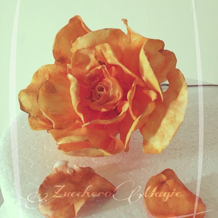 Wafer paper... Orange rose
