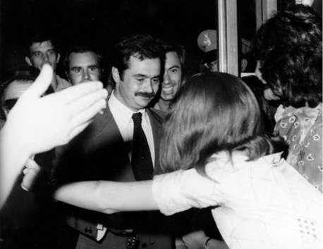 He reportedly refused amnesty offers from the junta. In August 1973, after four and a half years in jail, he benefited from a general amnesty that the military regime granted to all political prisoners during a failed attempt by Papadopoulos to liberalize his regime. Alekos went into self-exile in Florence, Italy, in order to continue the resistance.