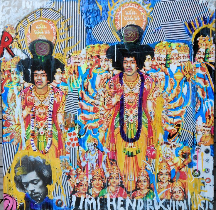 Available @ http://marishagulmann.com/ #art #popart #streetart #jimmyhendrix #music #harekrisna #decor #paintings #artwork #colors #home #invest #gallery #marishagulmanncom
