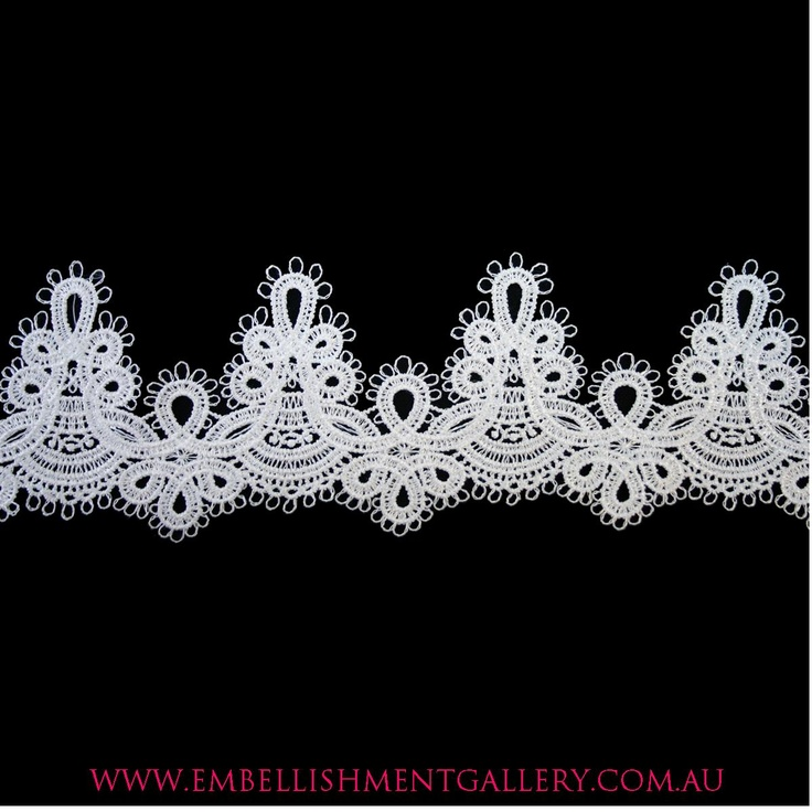 Embellishment Gallery supplies Lace by the metre for all types of embellishments. Lace by the metre for all occasions / lace by the metre for embellishments/ used for decorations on invitations/ D.I.Y invitations/ D.I.Y crafts/ lace by the metre used for wedding decorations/ our lace's can also be applied on bridal garments.