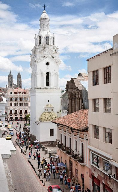 Quito, Ecuador... I have a picture almost just like this! I can imagine being there