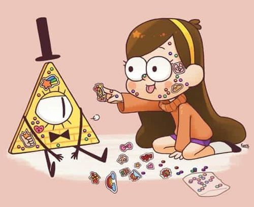 Imagen de gravity falls, mabel, and bill