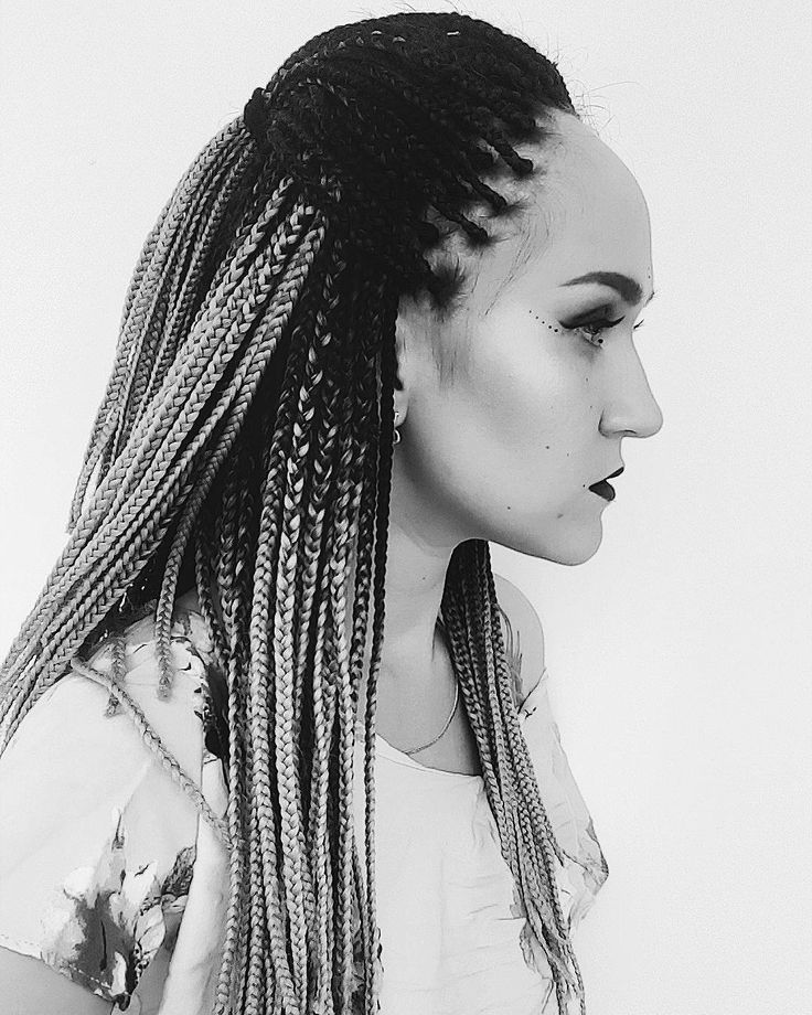 trending white girl braids