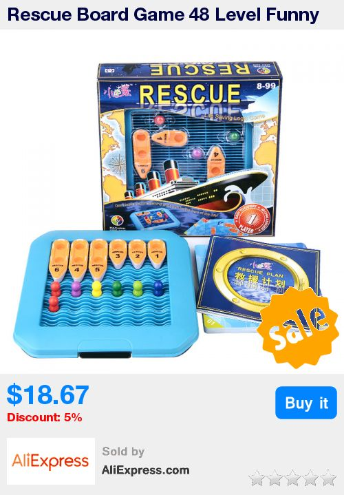 Rescue Board Game 48 Level Funny Puzzle Game For Children Environmental  ABS Plastic With  Free Shipping * Pub Date: 04:25 Jul 5 2017