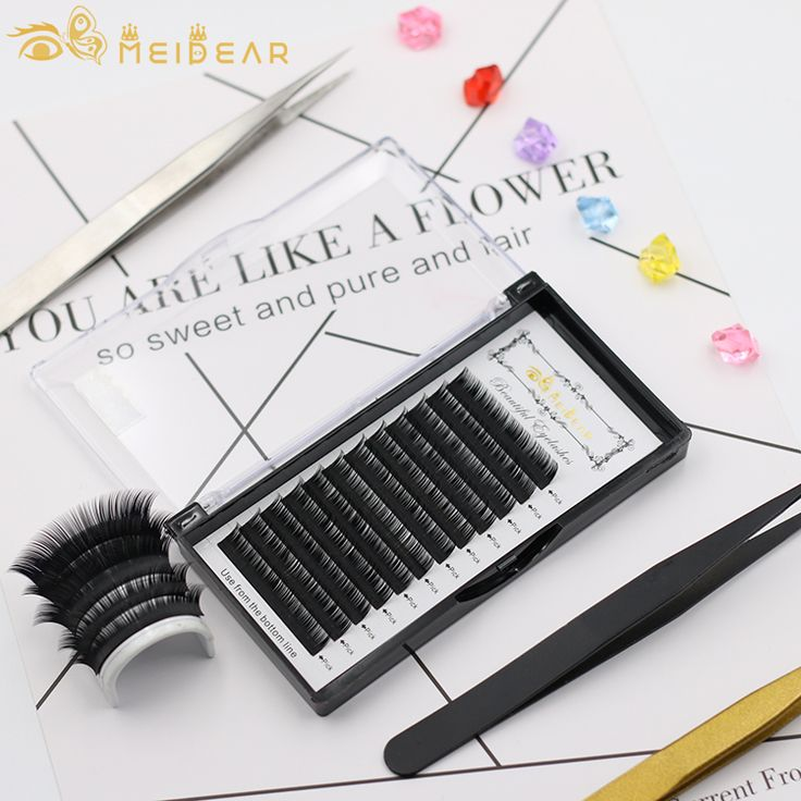 Silk eyelash extensions (Matte black), China wholesale Silk eyelash extensions (Matte black) factory & suppliers - Meidear eyelash