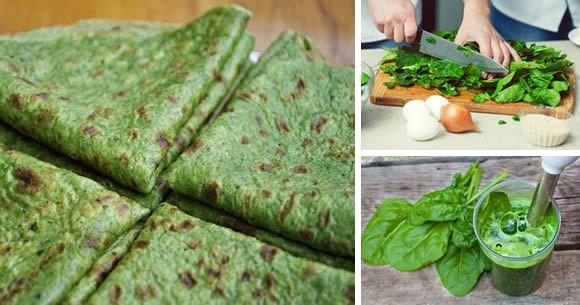 ricetta piadine spinaci