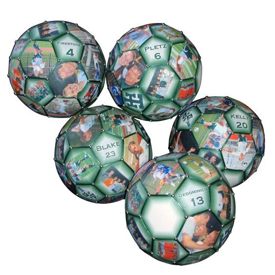 Need a gift idea for Coach? Celebrate the season with a special collage soccer photo ball of the team!