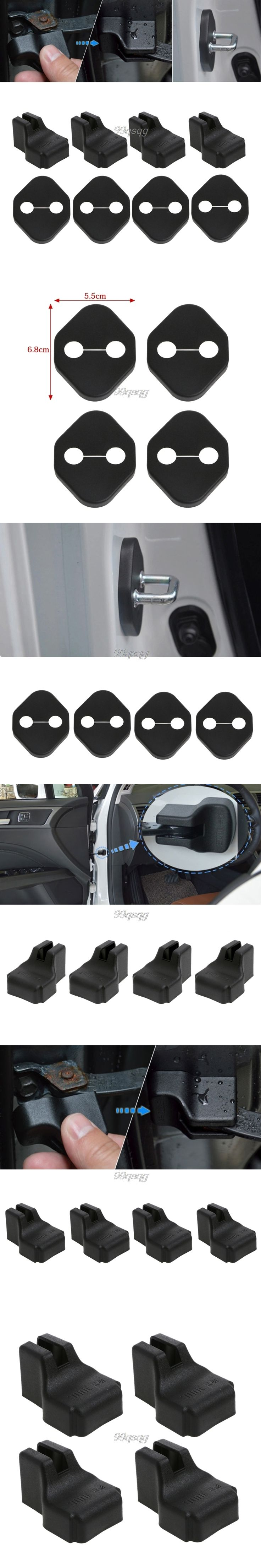 Car Door Lock Cover Stopper Protection For KIA RIO K2 Soul Hyundai Solaris Verna Drop shipping
