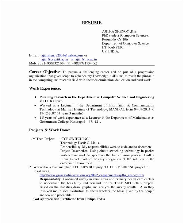 Computer Science Resume Example New Pin On Resume Template Resume Examples Computer Science Engineering Resume