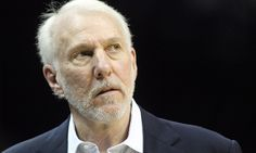 Apr 22, 2016; Memphis, TN, USA; San Antonio Spurs head coach Gregg Popovich during the fourth quarter against the Memphis Grizzlies in game three of the first round of the NBA Playoffs at FedExForum. Spurs defeated Grizzlies 96-87. Mandatory Credit: Nelson Chenault-USA TODAY Sports ORG XMIT: USATSI-268150 ORIG FILE ID:  2016022_pjc_sc6_205.JPG