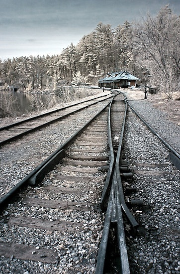 Old Train Station, Wakefield, Quebec, by Debbie Pinard