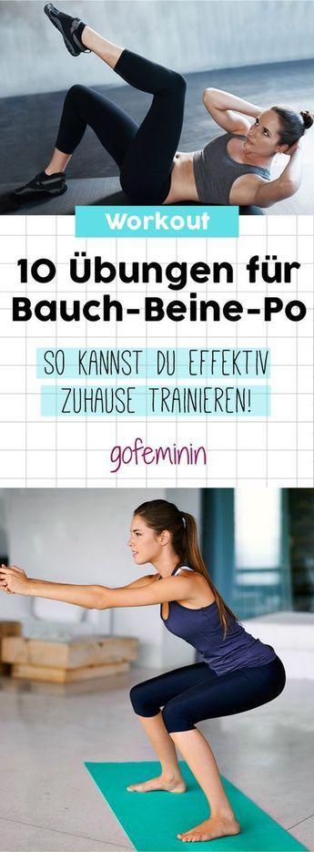 Die 10 besten Bauch-Beine-Po-Übungen für Zuhause