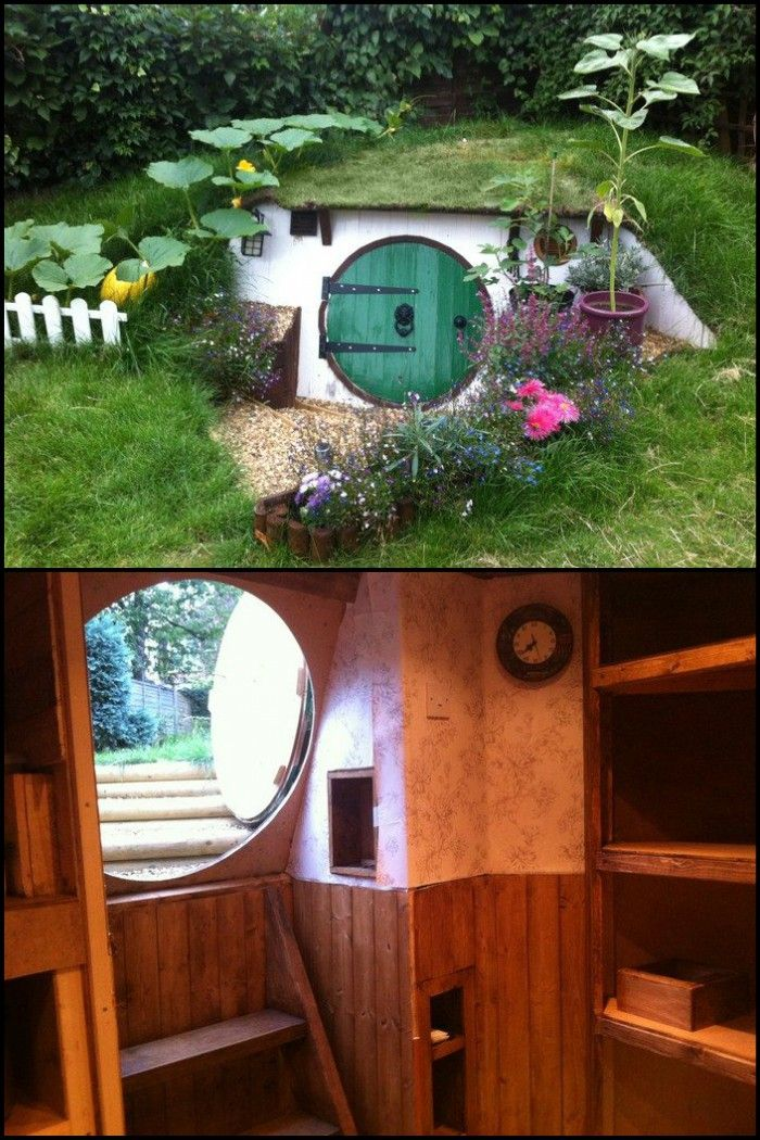 How To Build A Hobbit House Building Process And House Equipping Hobbit House Hobbit Houses Diy Play Houses