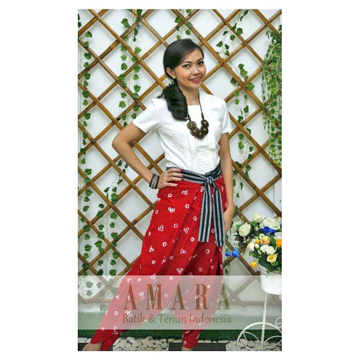 Jumputan Sarong Pants  www.amarabatik.com  FP : Amara Batik & Tenun Indonesia