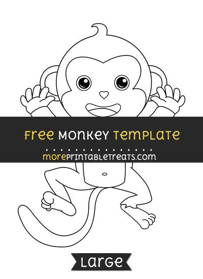Free Monkey Template - Large