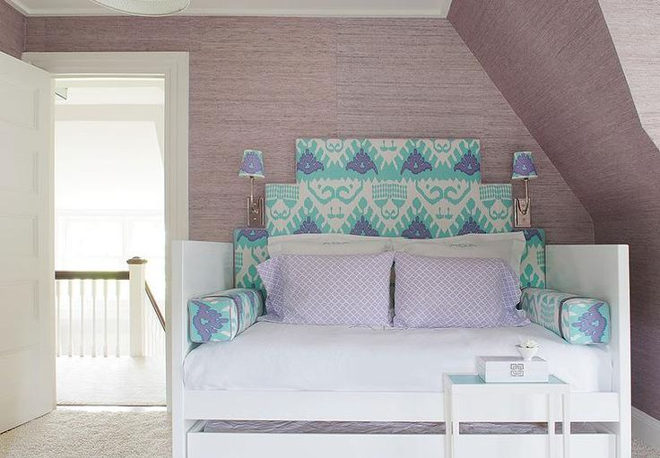 Turquoise Blue And Purple Office And Guest Room Combo