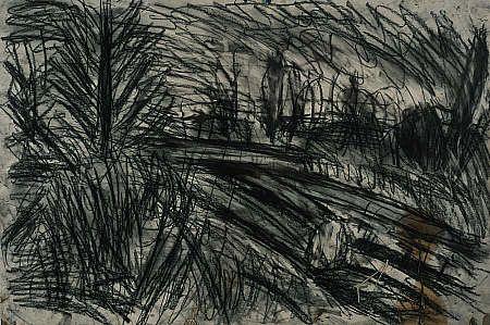 Leon Kossoff 'Between Kilburn and Willesden Green, Winter Evening'