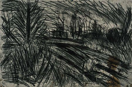 Leon Kossoff 'Between Kilburn and Willesden Green, Winter Evening'