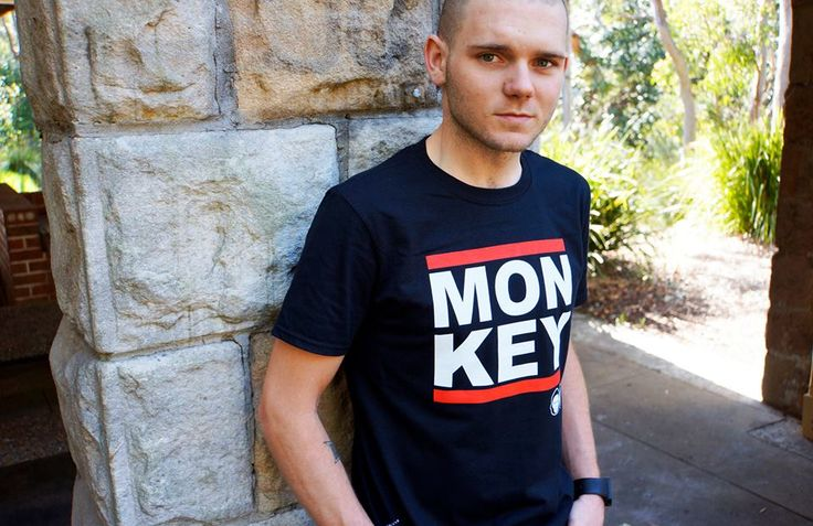 The new Monkey tees in store now, in blue and black. It's tricky... RUN TMC