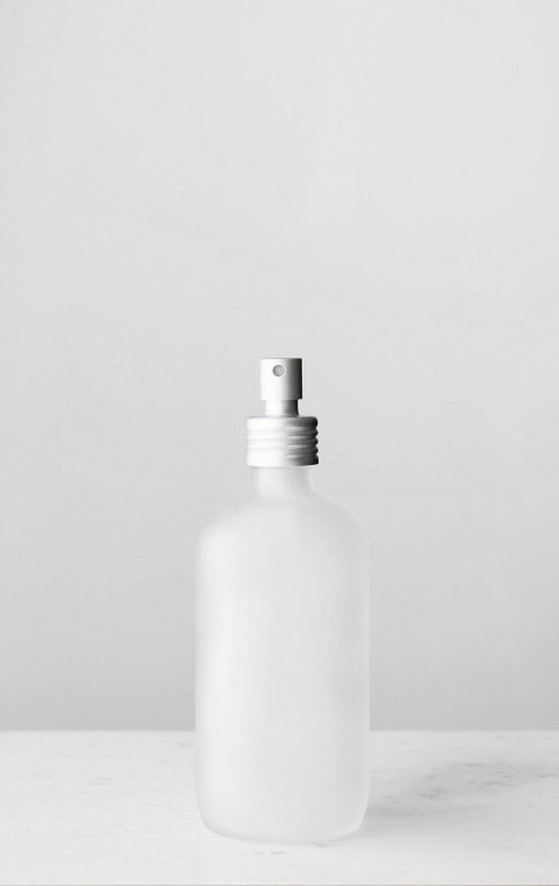 Apothecary Frosted Glass Mist Bottle With Metal Aluminum Mist