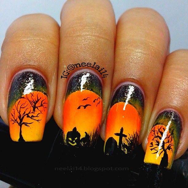 halloween by neelai14  #nail #nails #nailart