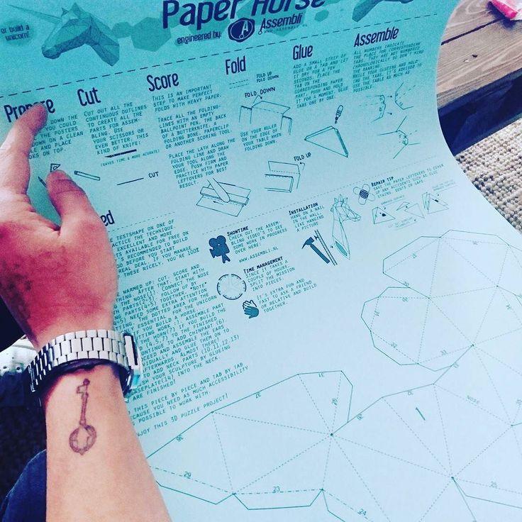 \\\\CONSTRUCTION  #PAPERHORSE #UNICORN #CONSTRUCTION #ASSEMBLI #PARIS #FUN by b4cksl4sh