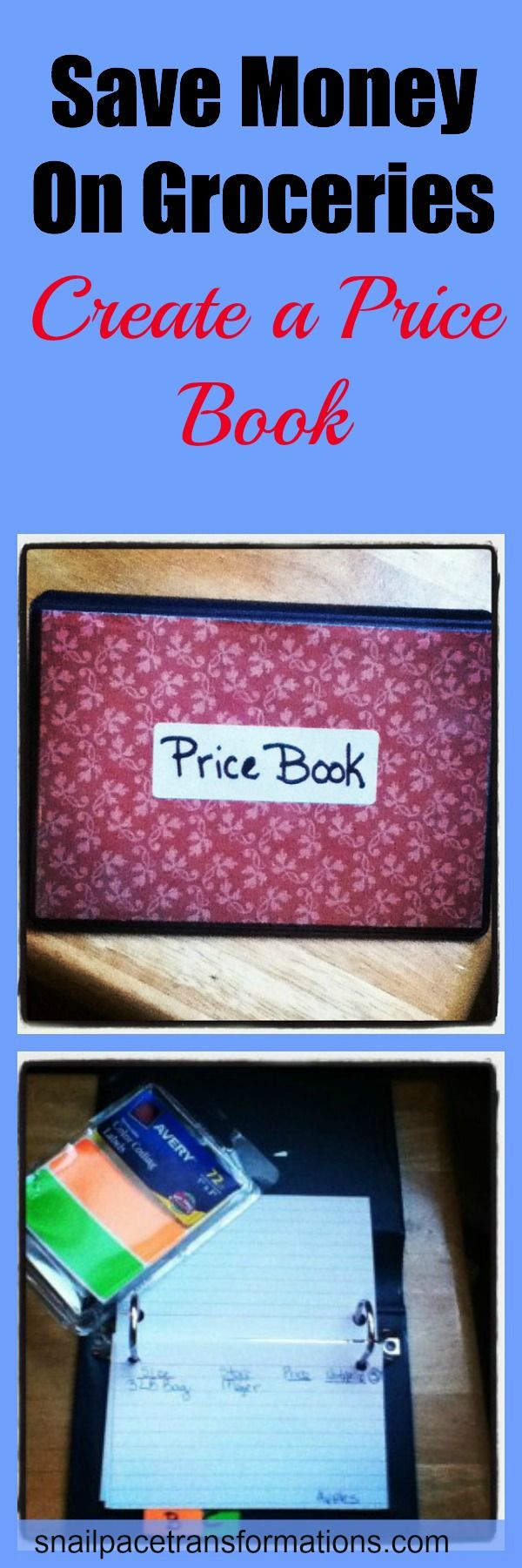 How to set up a small simple price book that will fit in your purse and help you save $$ at the grocery store.