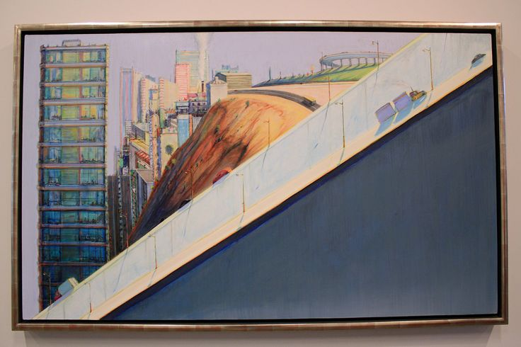 Diagonal Freeway, by Wayne Thiebaud   Flickr - Photo Sharing!