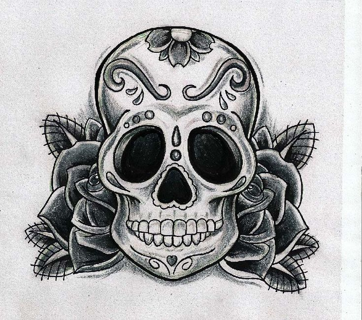 Calaveras tattoo buscar con google tattoo dibujos - Tattoo disenos a color ...