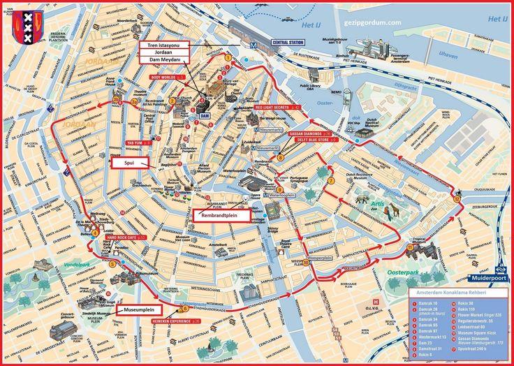 Amsterdam Da Nerede Kalınır Amsterdam Haritası 2019
