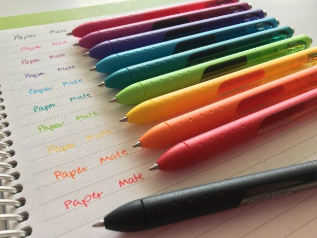 papermate inkjoy gel pen review best planner pens supplies rainbow color coding fine tip http://www.allaboutthehouseprintablesblog.com/ultimate-list-of-the-best-planner-pen-brands-and-how-to-choose-colors-for-color-coding/