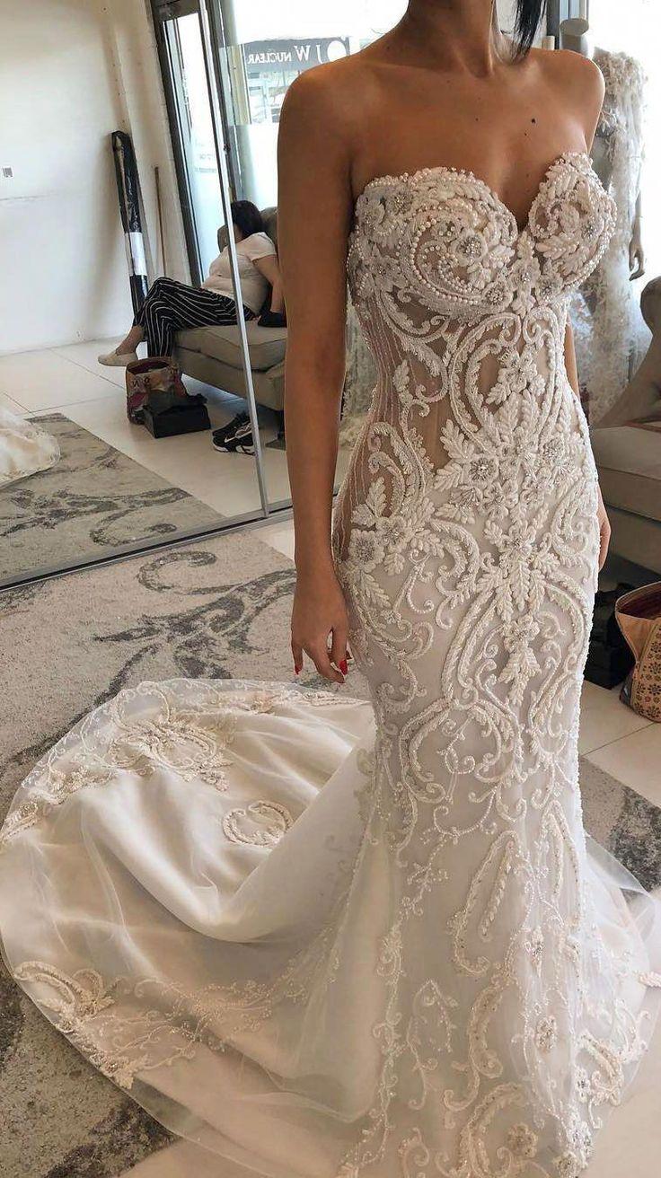 Stunning wedding dress with amazing details – heavy embellishment wedding dress …