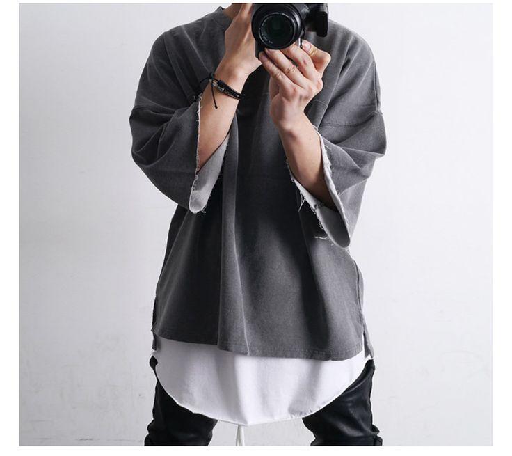 【楽天市場】【2016年新作】3色 レイヤード用 ロング丈 カットソー 半袖 カットソー メンズ Tシャツ 半袖 メンズ 7分袖 カットソー メンズ ダメージゆるTシャツ メンズ ロングスウェットスプリング メンズ トップス ヴィメンズ tシャツ tシャツ メンズ トップス 10P06May14:minsobi