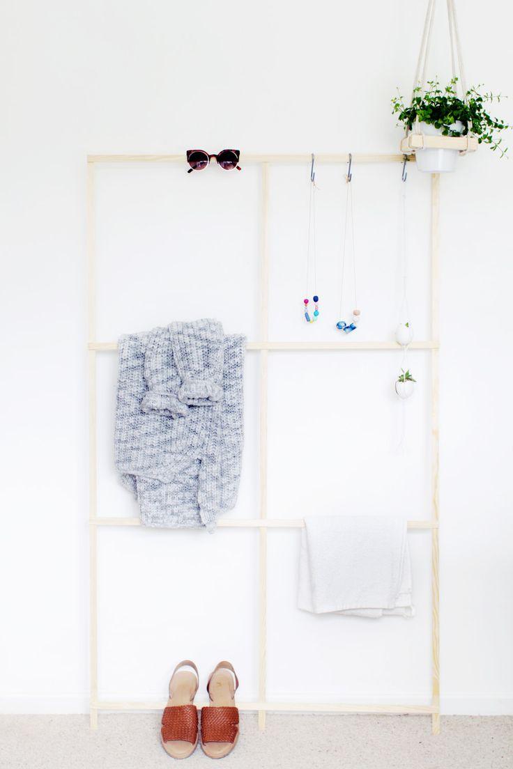 Fall For DIY Trellis Clothes Rack