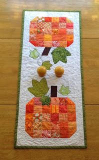 My Stitch Story: Scrappy Pumpkin Table Runner Tutorial (Part 2)