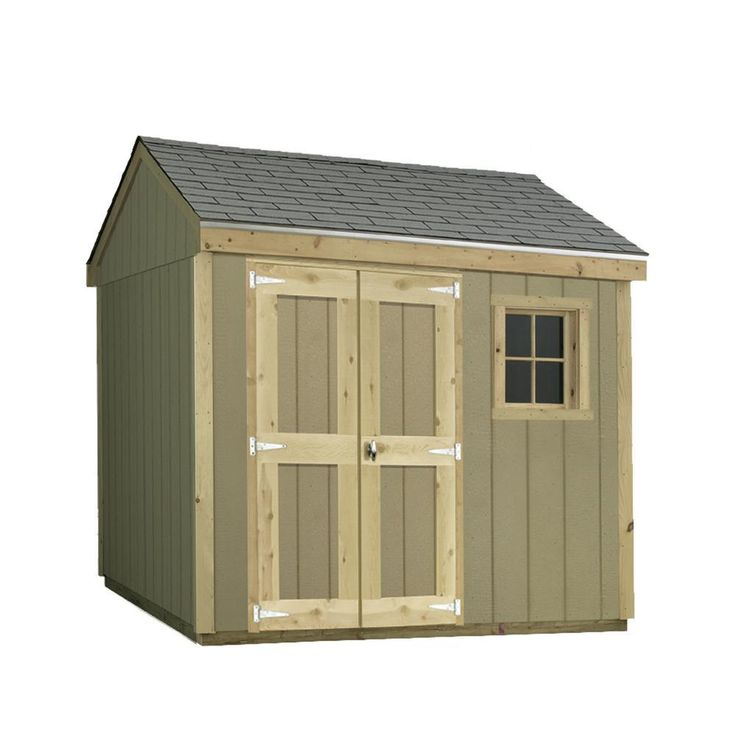 Installed Hide-A Way 8 ft. x 10 ft. Smart Siding Shed, Browns/Tans