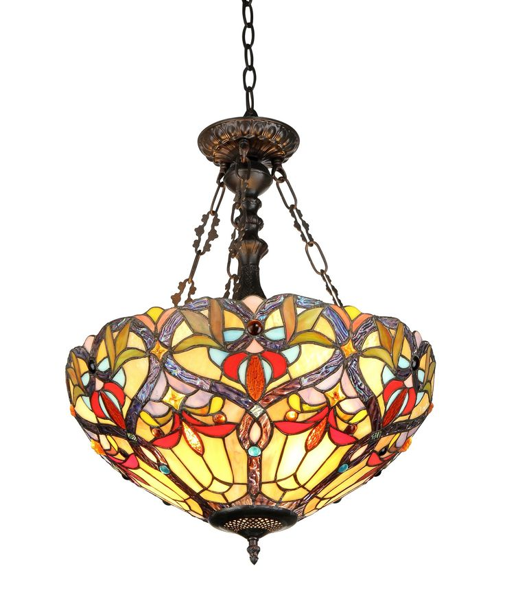 Victorian 2 Light Byron Inverted Ceiling Pendent